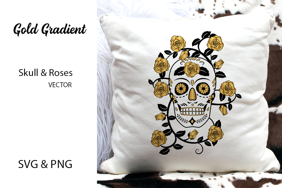 Skull & Roses Vector Designs- SVG & PNG example image 2