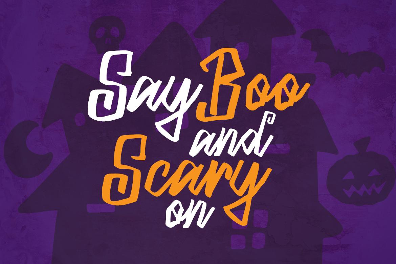 Blacky Sambat - Halloween Font example image 2