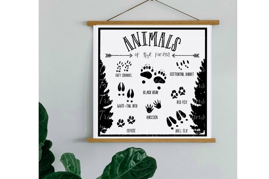 Animals of the Forest Woodland Nursery SVG DXF PNG JPEG example image 2