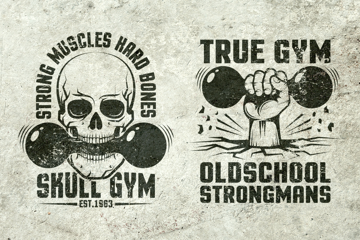 Gym Retro Logo 2 example image 4