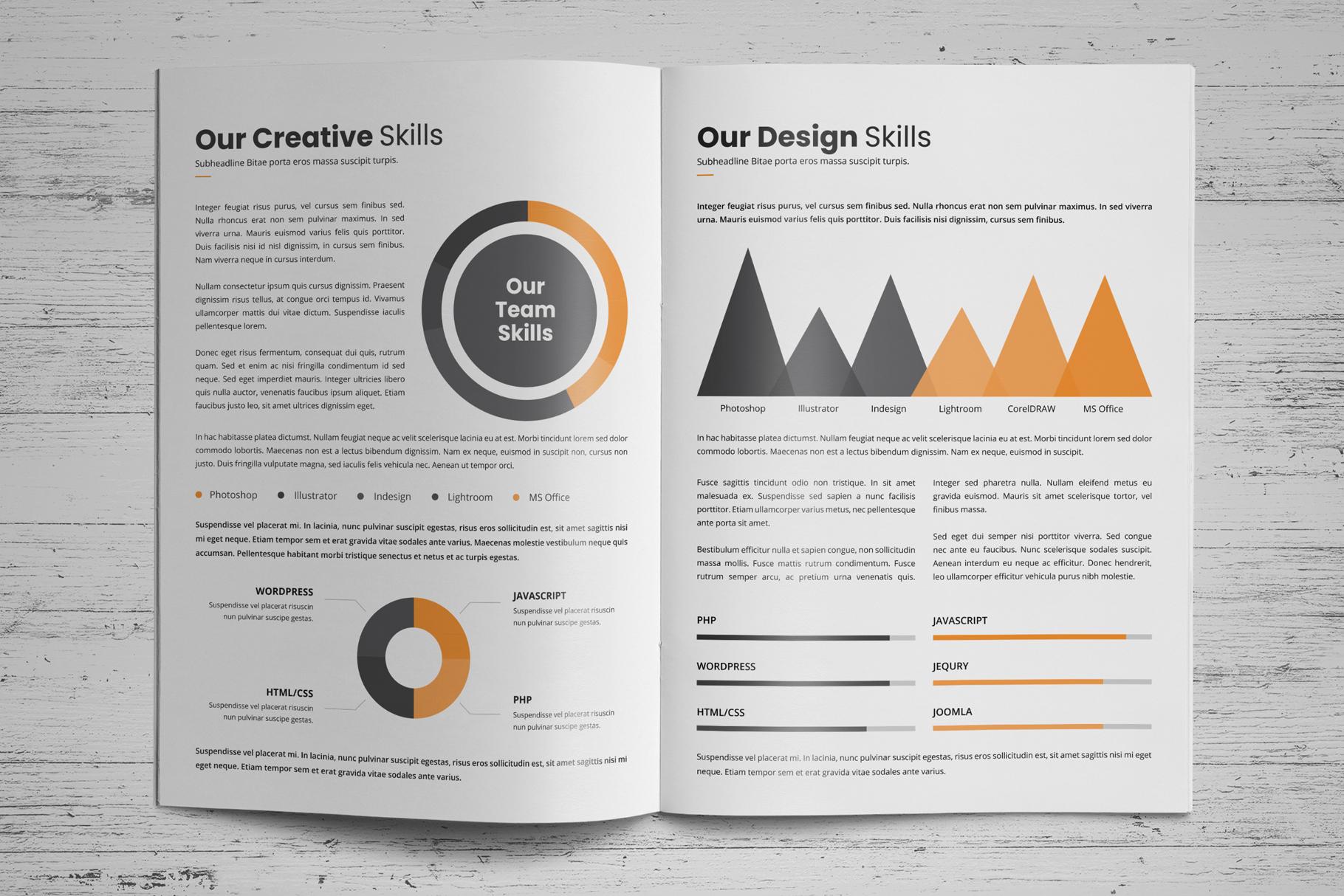 Portfolio Brochure Design v4 example image 4