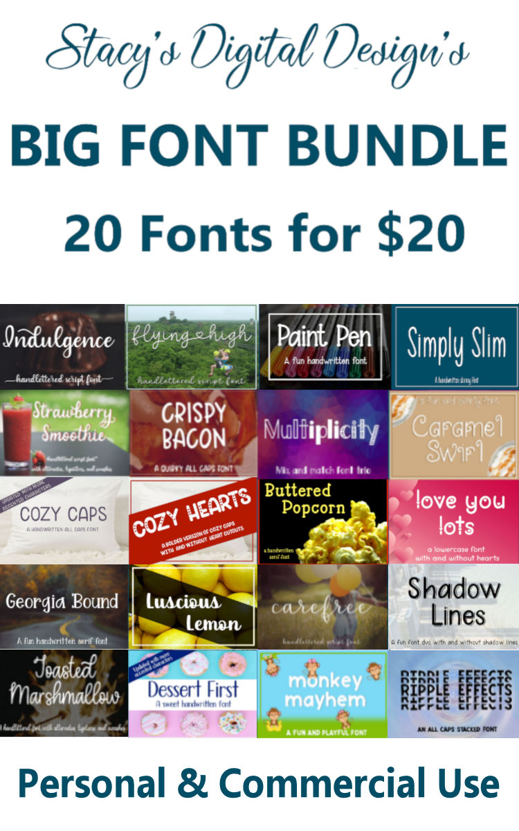 Big Font Bundle - 20 Handwritten Fonts example image 12