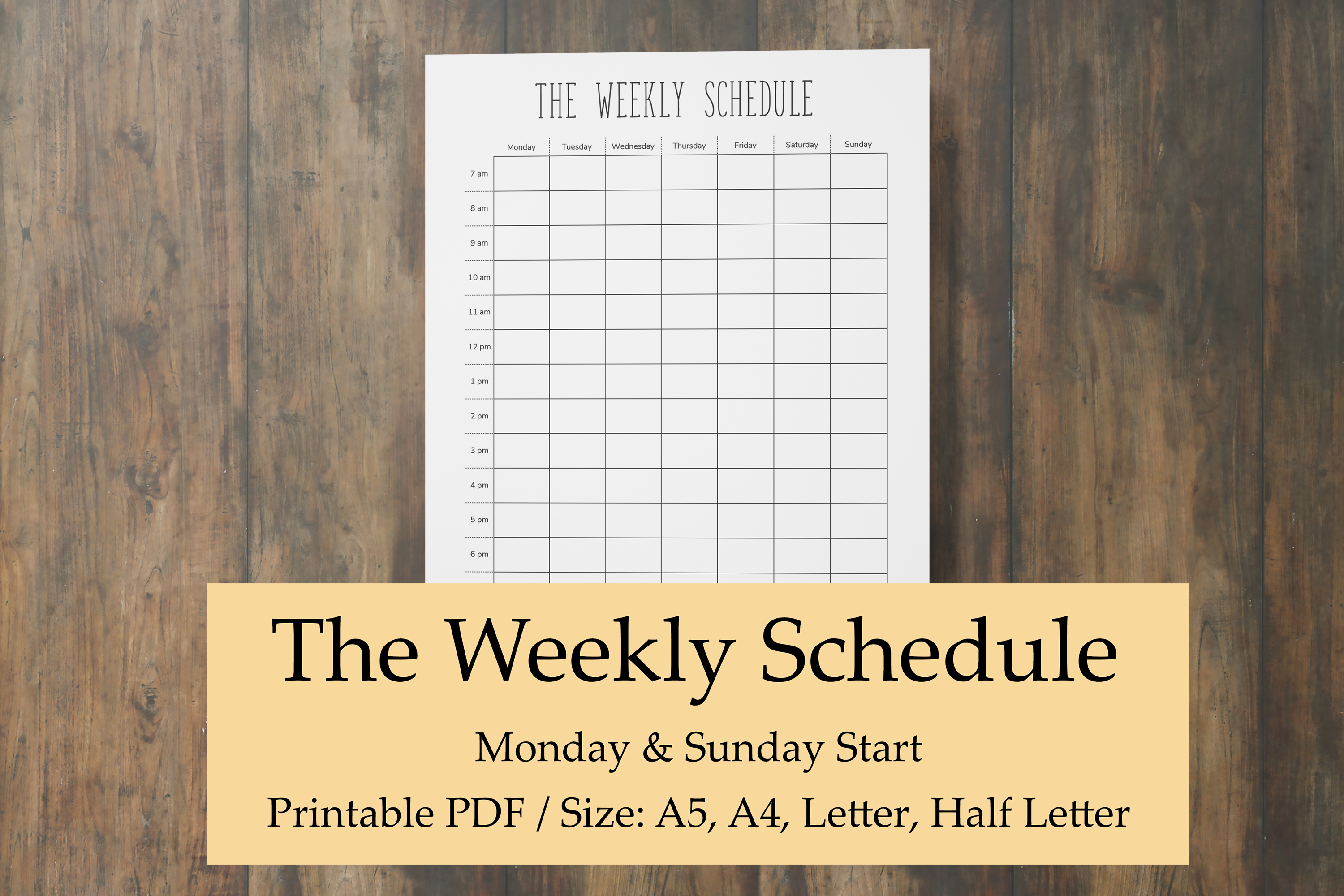 photograph regarding Weekly Hourly Planner Printable referred to as Weekly Program Printable, Hourly Planner Webpages, Weekly Year