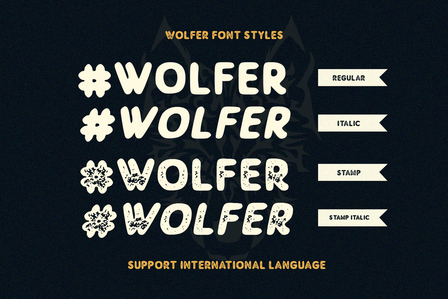 Wolfer | The Adventure Vintage Font example image 3