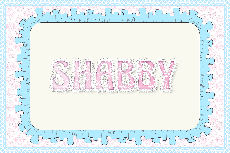 12 Shabby Chic Adobe Illustrator Graphic Styles example image 7