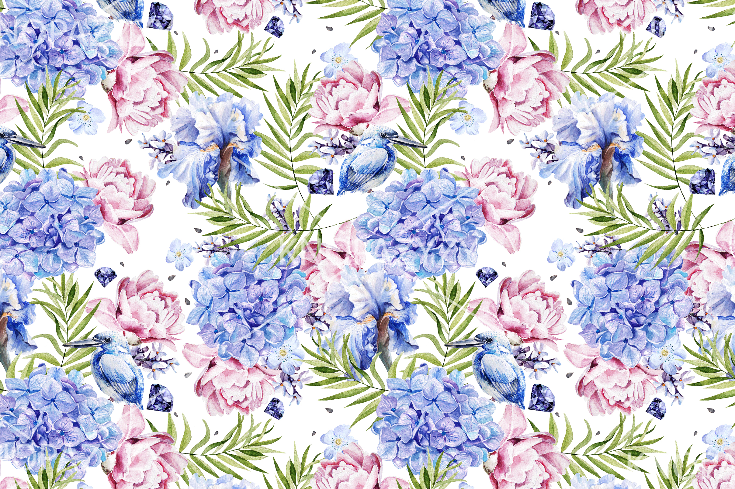 10 Hand Drawn Watercolor Pattern example image 10