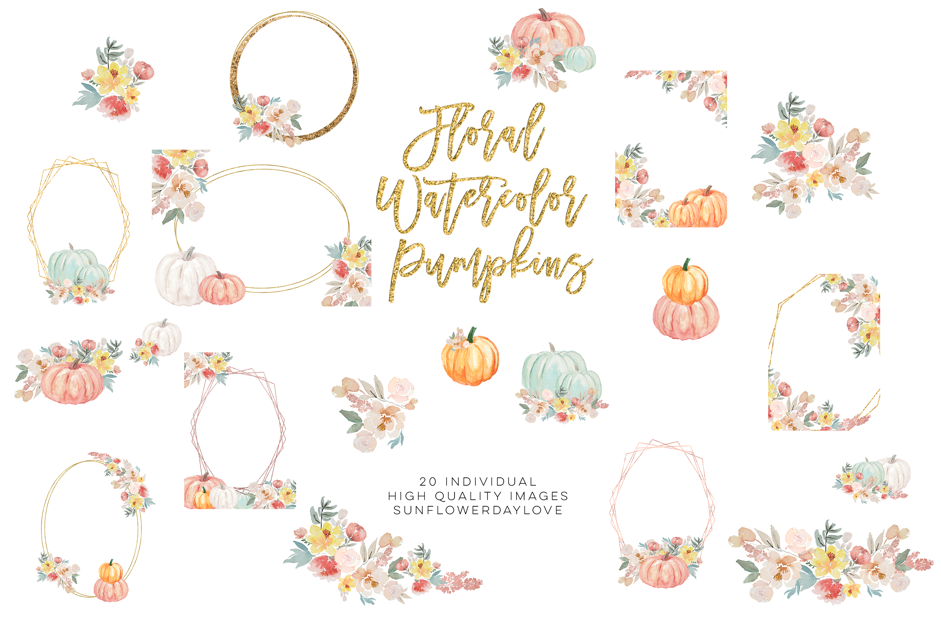 Autumn Watercolor Clipart, Fall Digital Download example image 3
