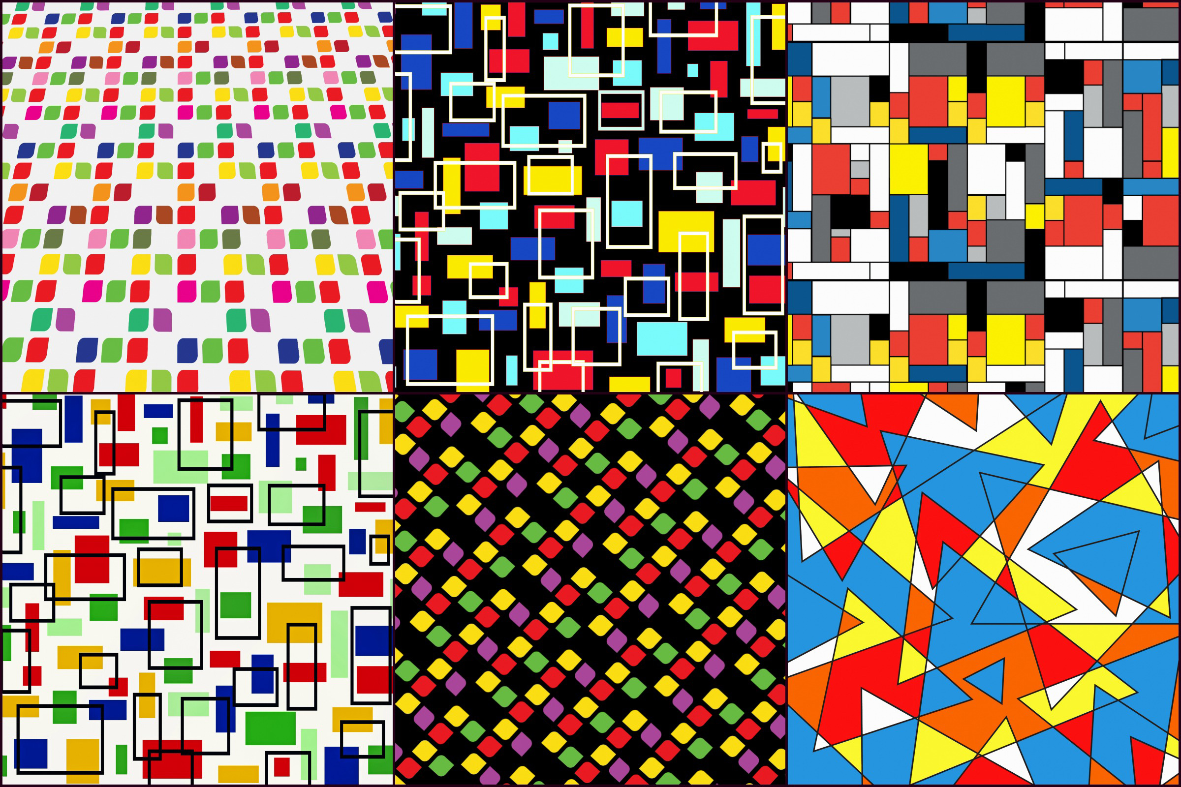 Bauhaus/Mondrian Style Geometric Digital PAPERS example image 2