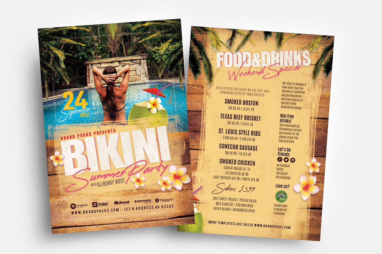 Bikini Party Flyer Template example image 2