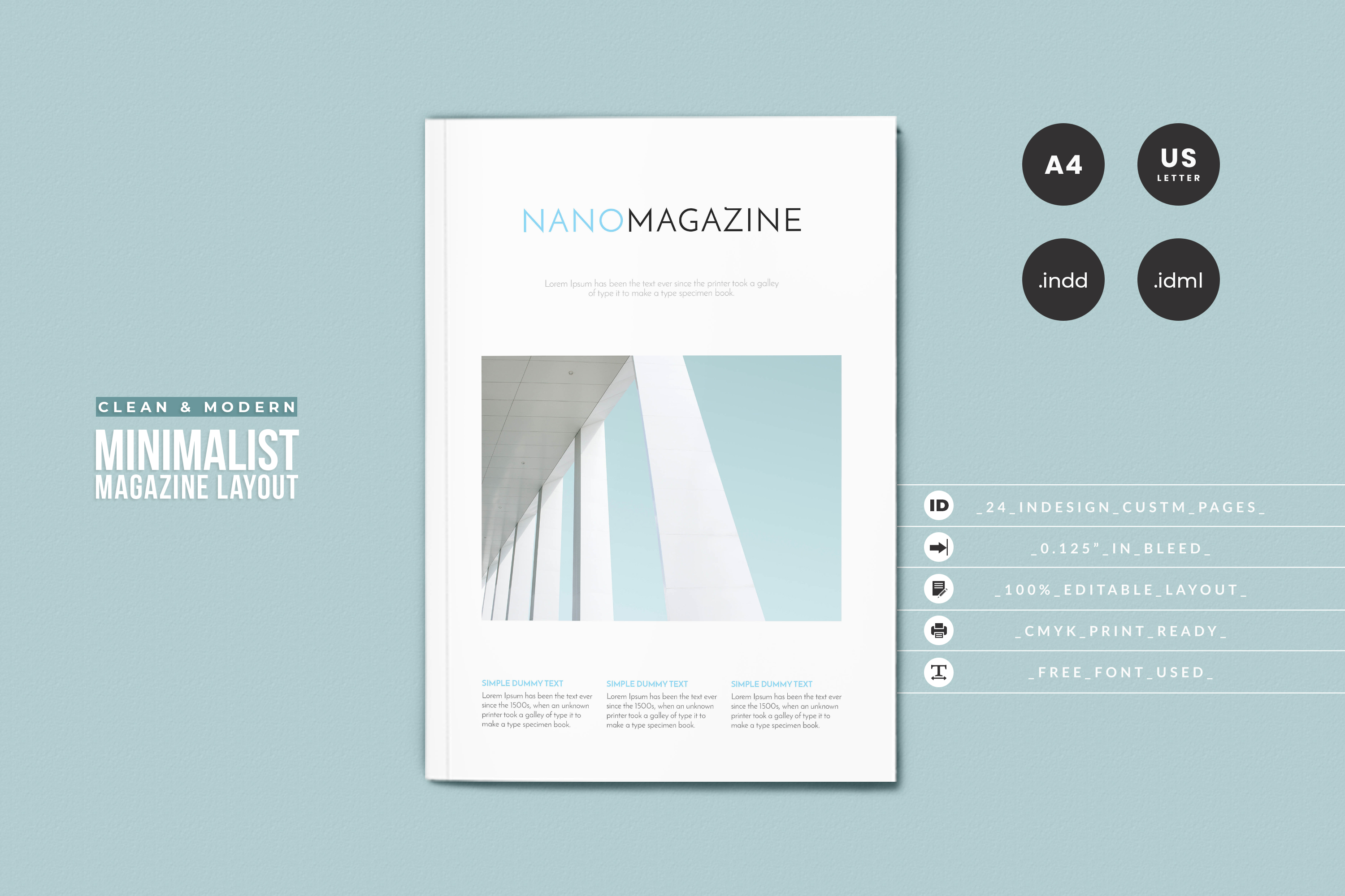 InDesign NANO Magazine Template example image 1
