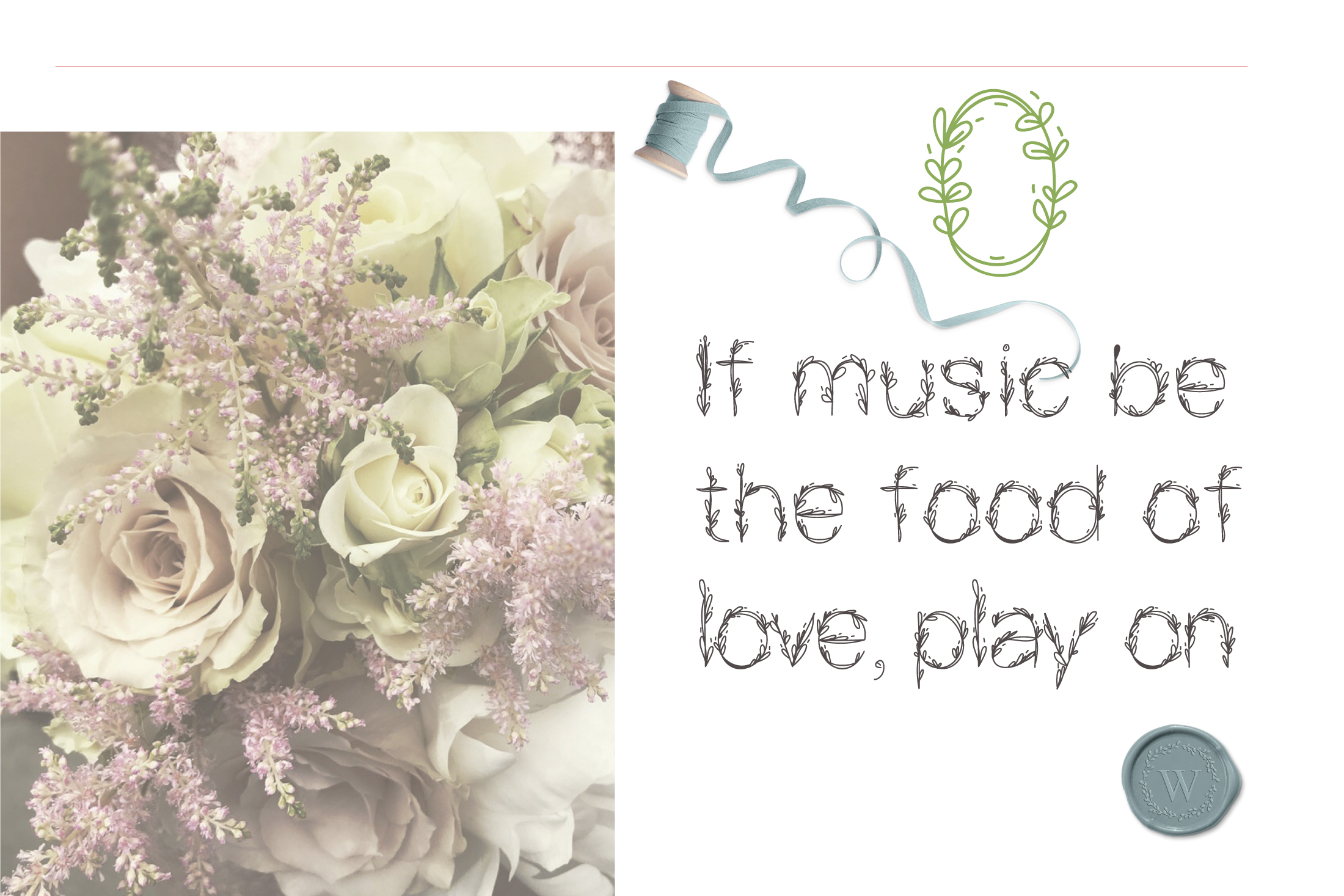 Garden|floral romantic font example image 3