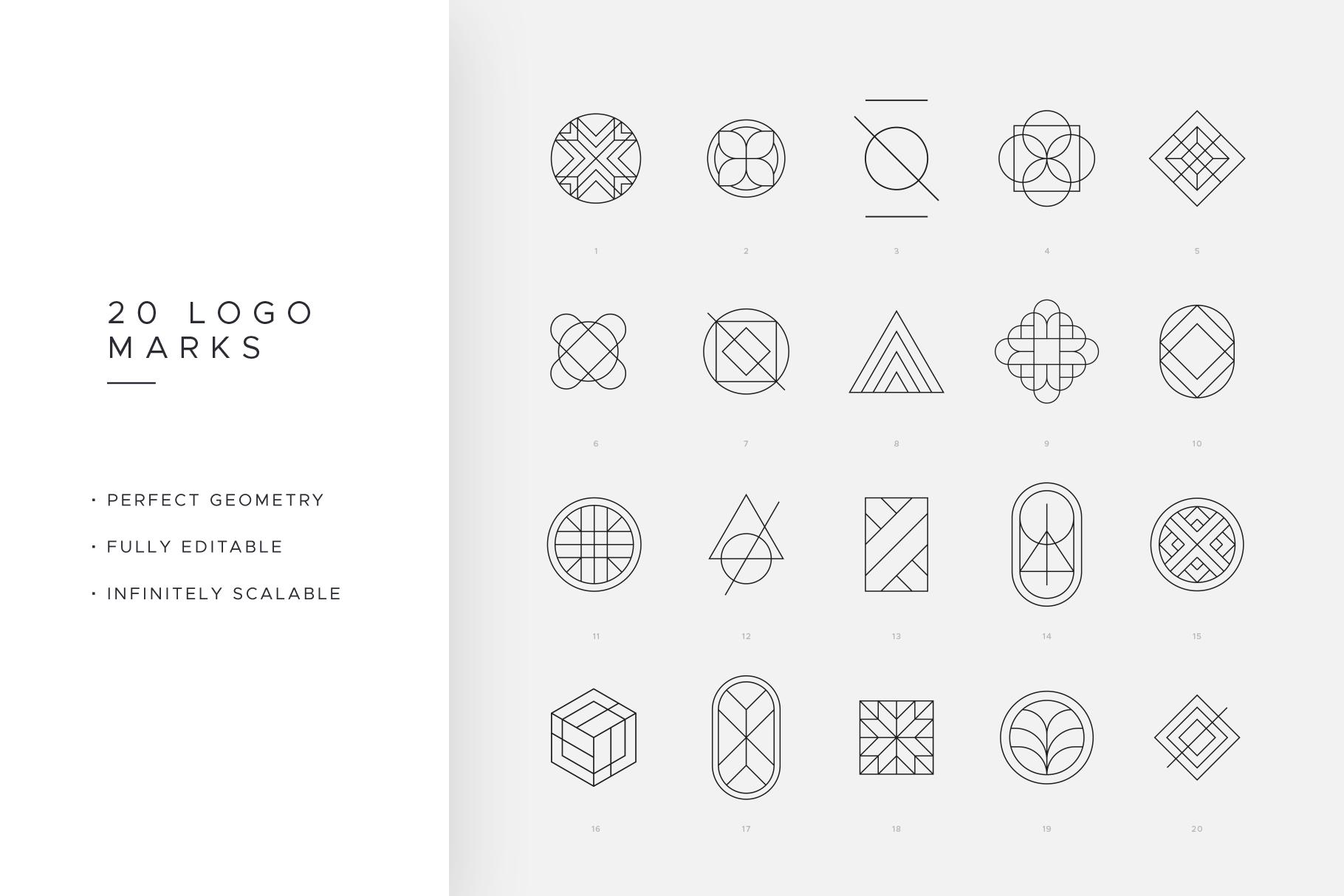 Minimal Geometric Logos - Volume 1 example image 3