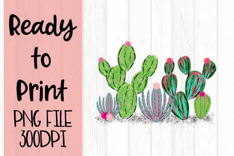 Watercolor Cactus Ready to Print example image 1