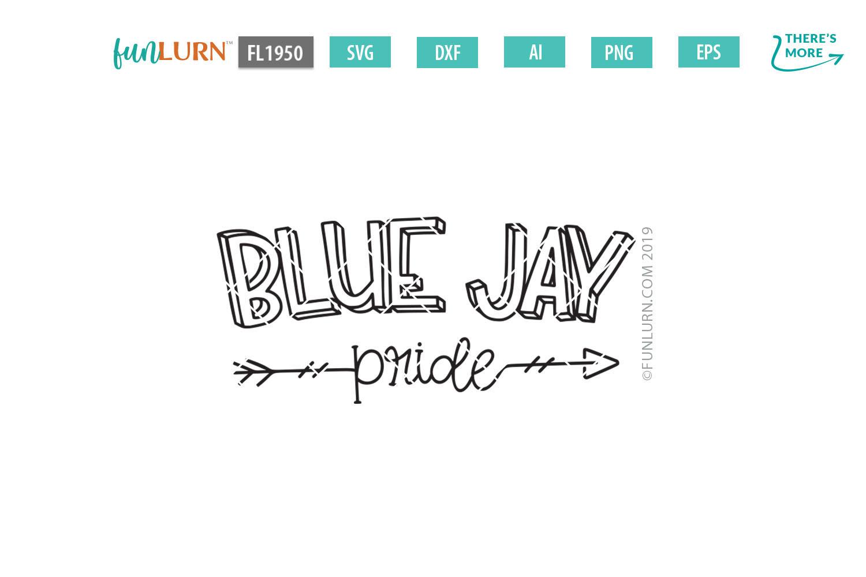 Blue Jay Pride Team SVG Cut File example image 2
