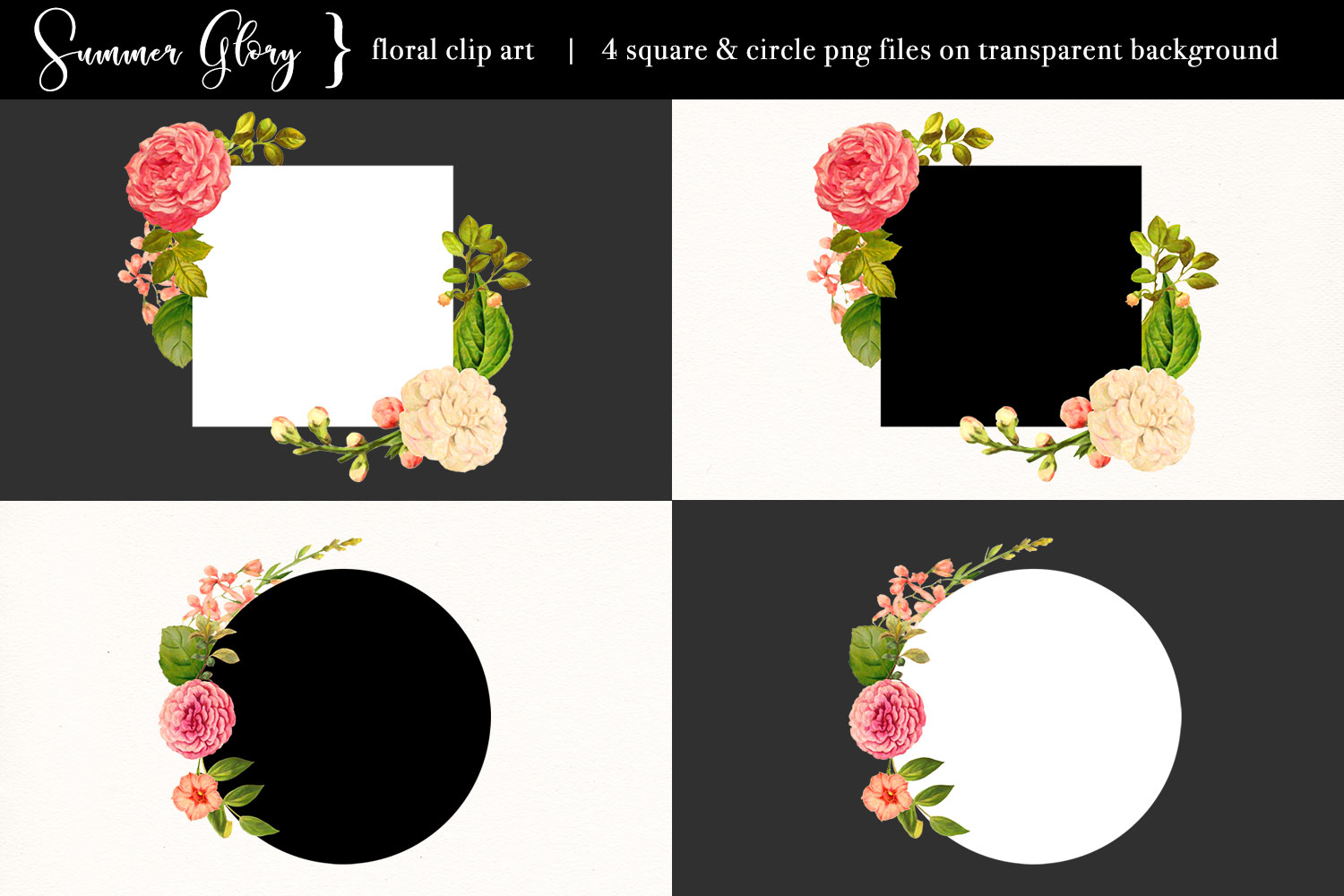 Floral Clip Art - Summer Glory example image 3