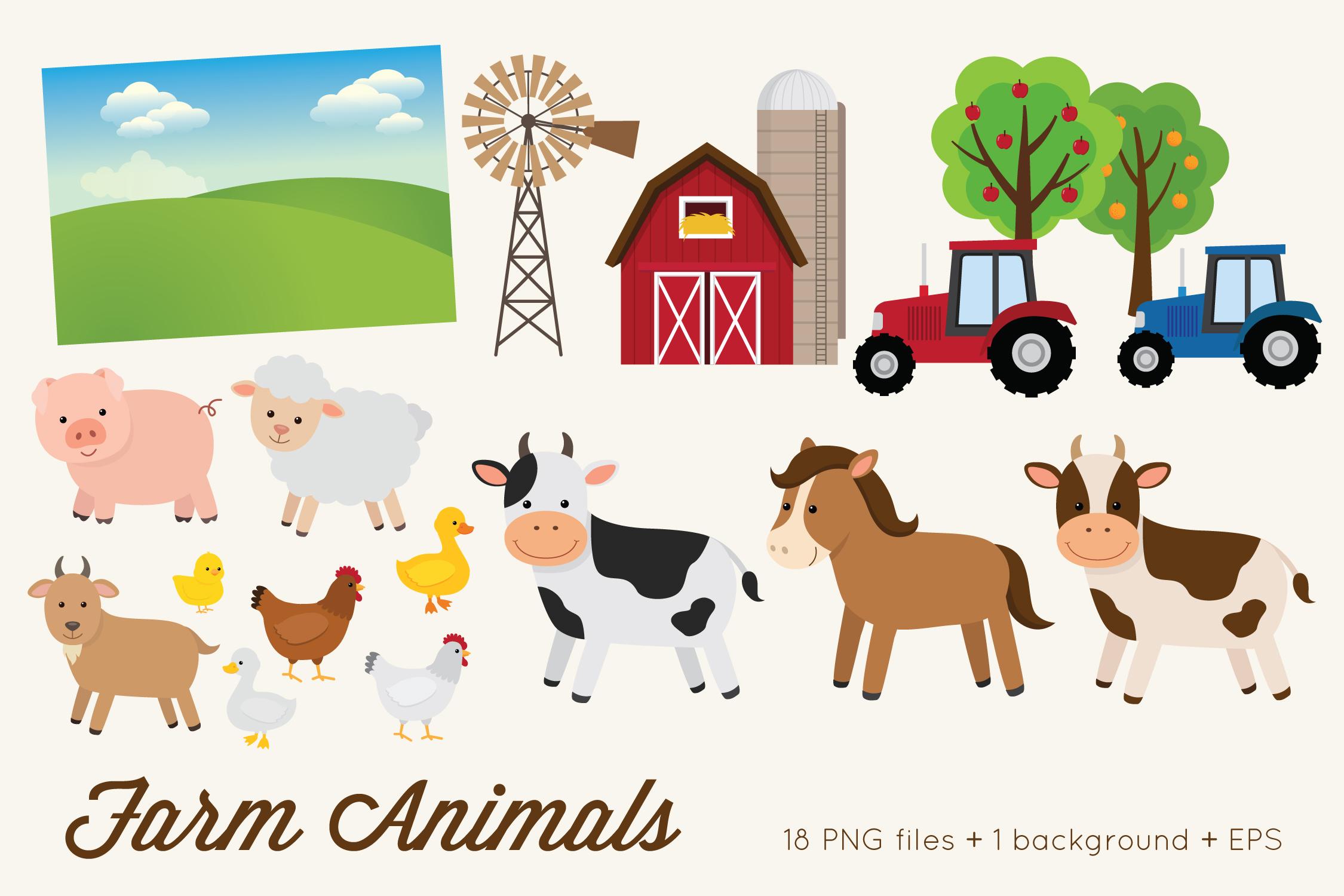 Farm Animals Clipart example image 2