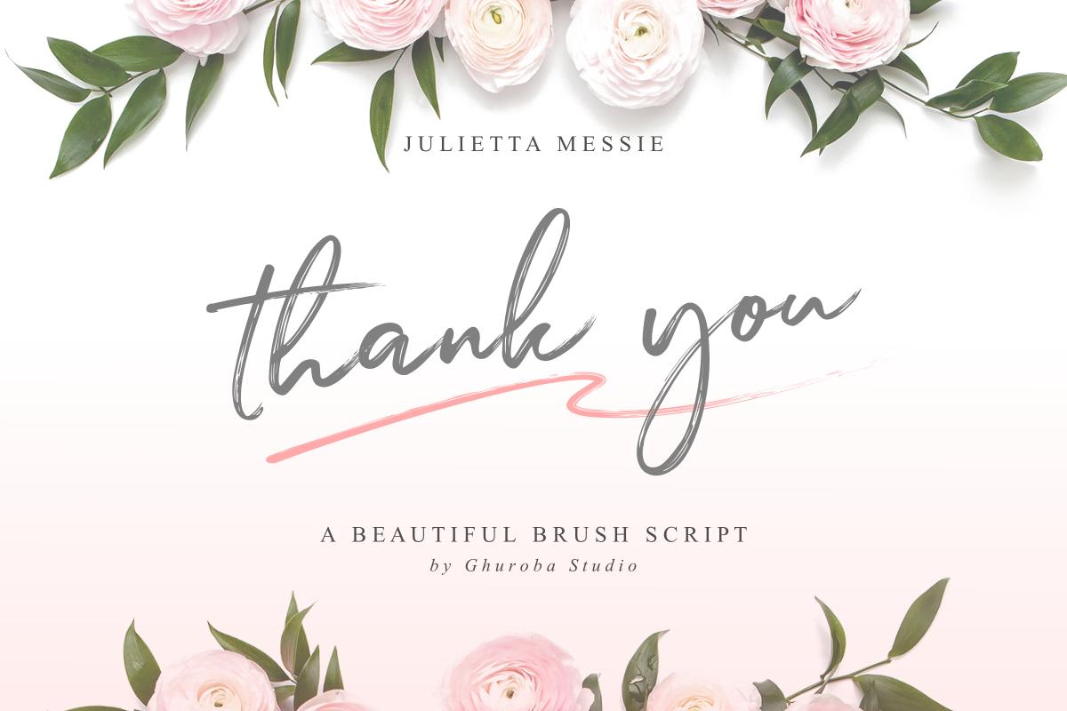 Julietta Messie   Brush Script example image 10