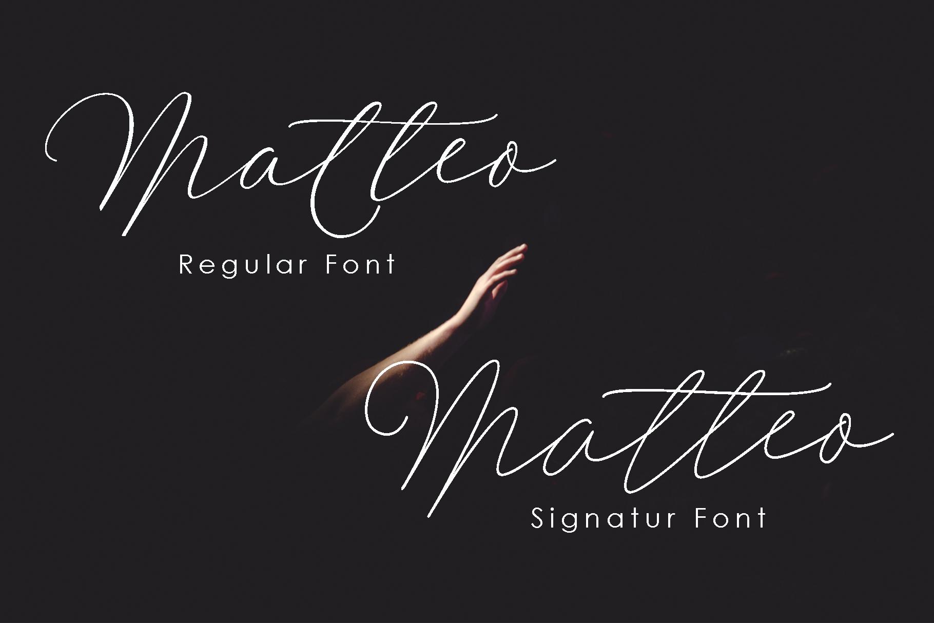 Matteo Script example image 2