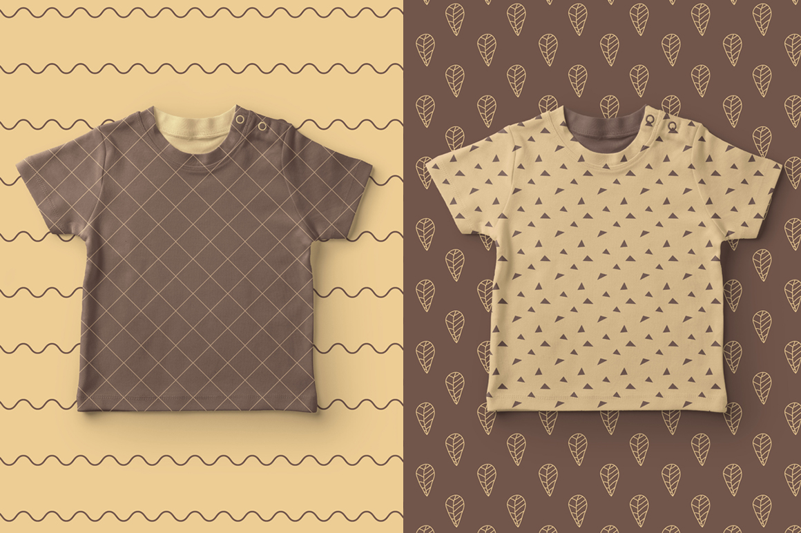 Simple Brown Seamless Pattern example image 4