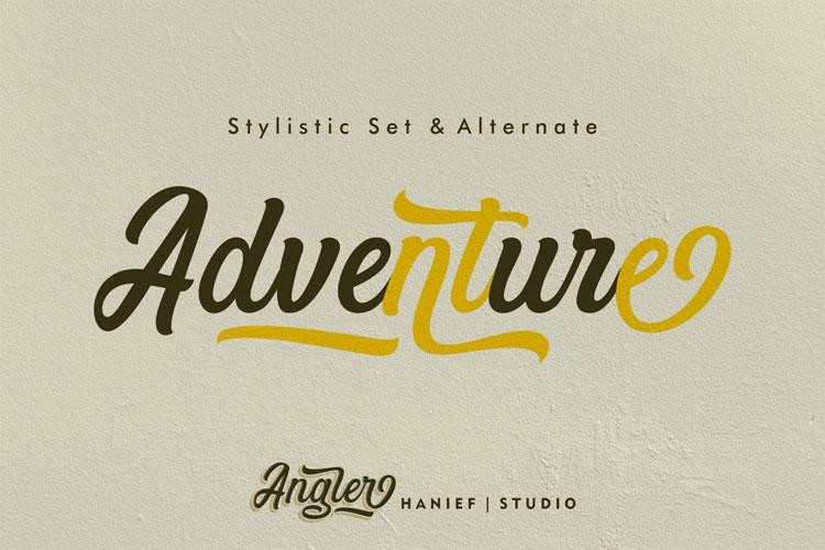 Angler//Modern Script Font example image 3