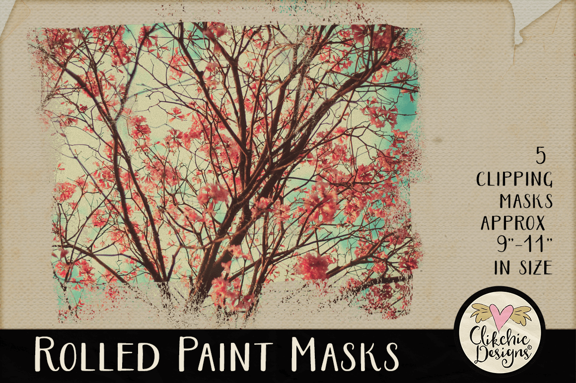 Clipping Masks - Rolled Paint Photoshop Masks & Tutorial example image 5