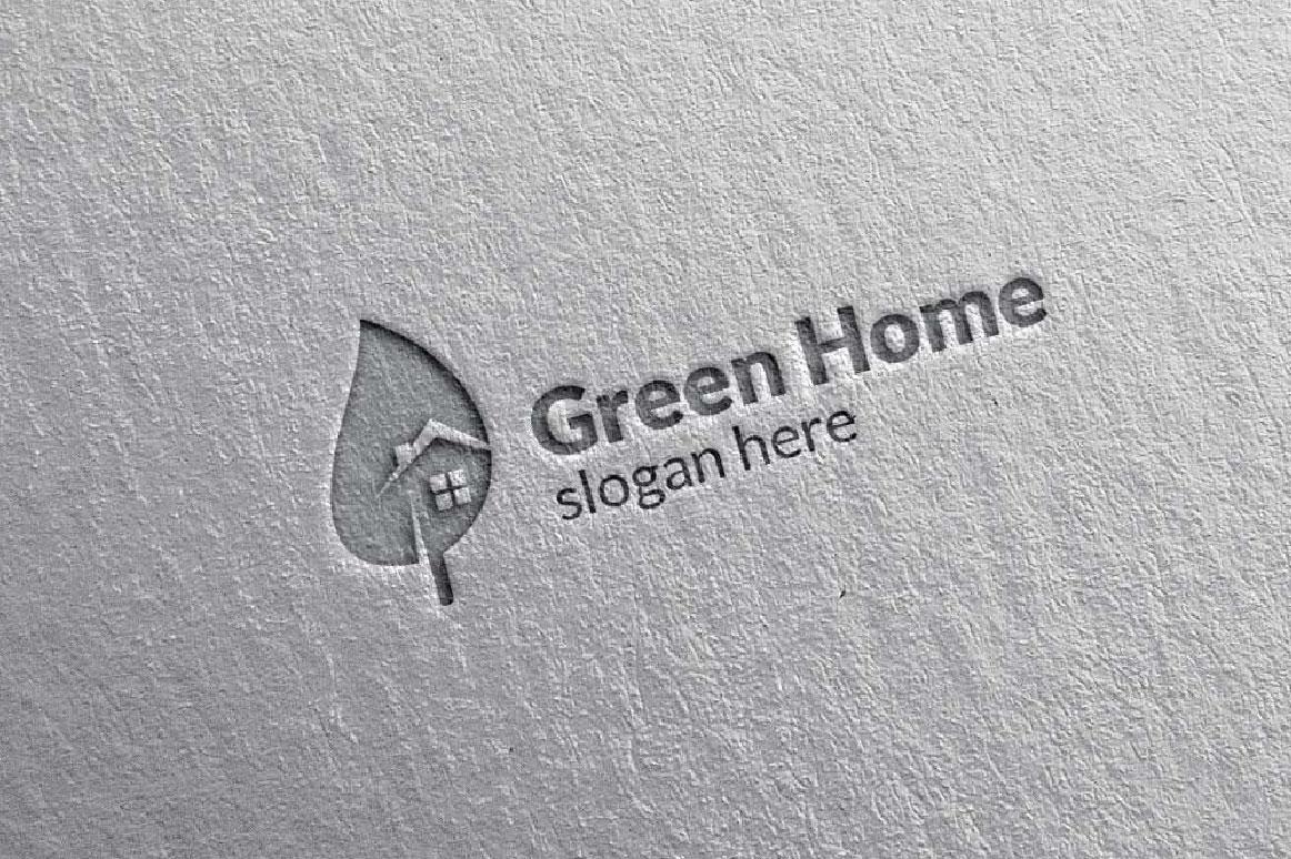Real estate Logo, Green Home Logo 6 example image 3