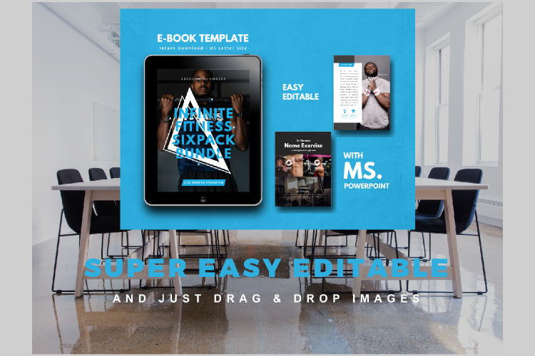 Fitness Ebook Template Easy Editable Using Ms Powerpoint