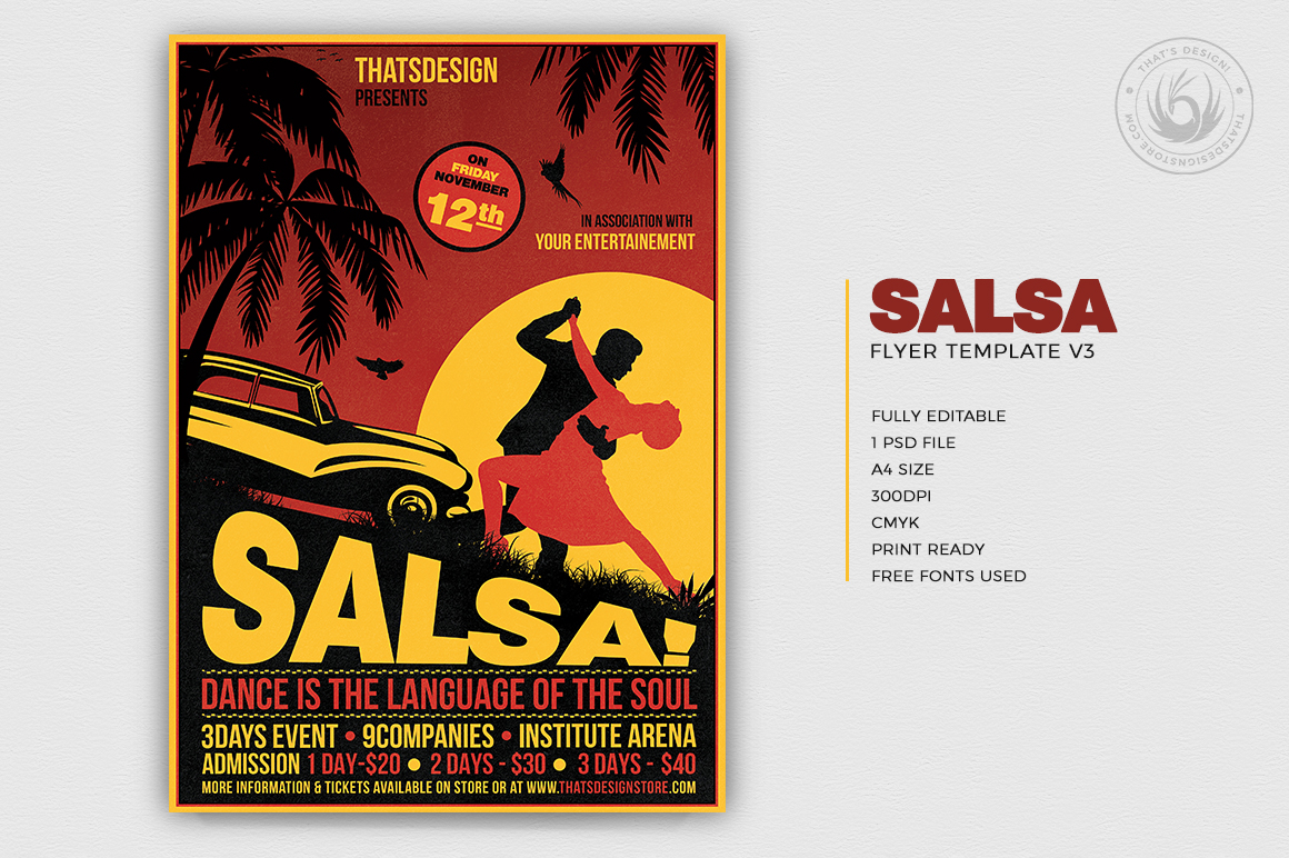 Salsa Flyer Template V3 example image 2