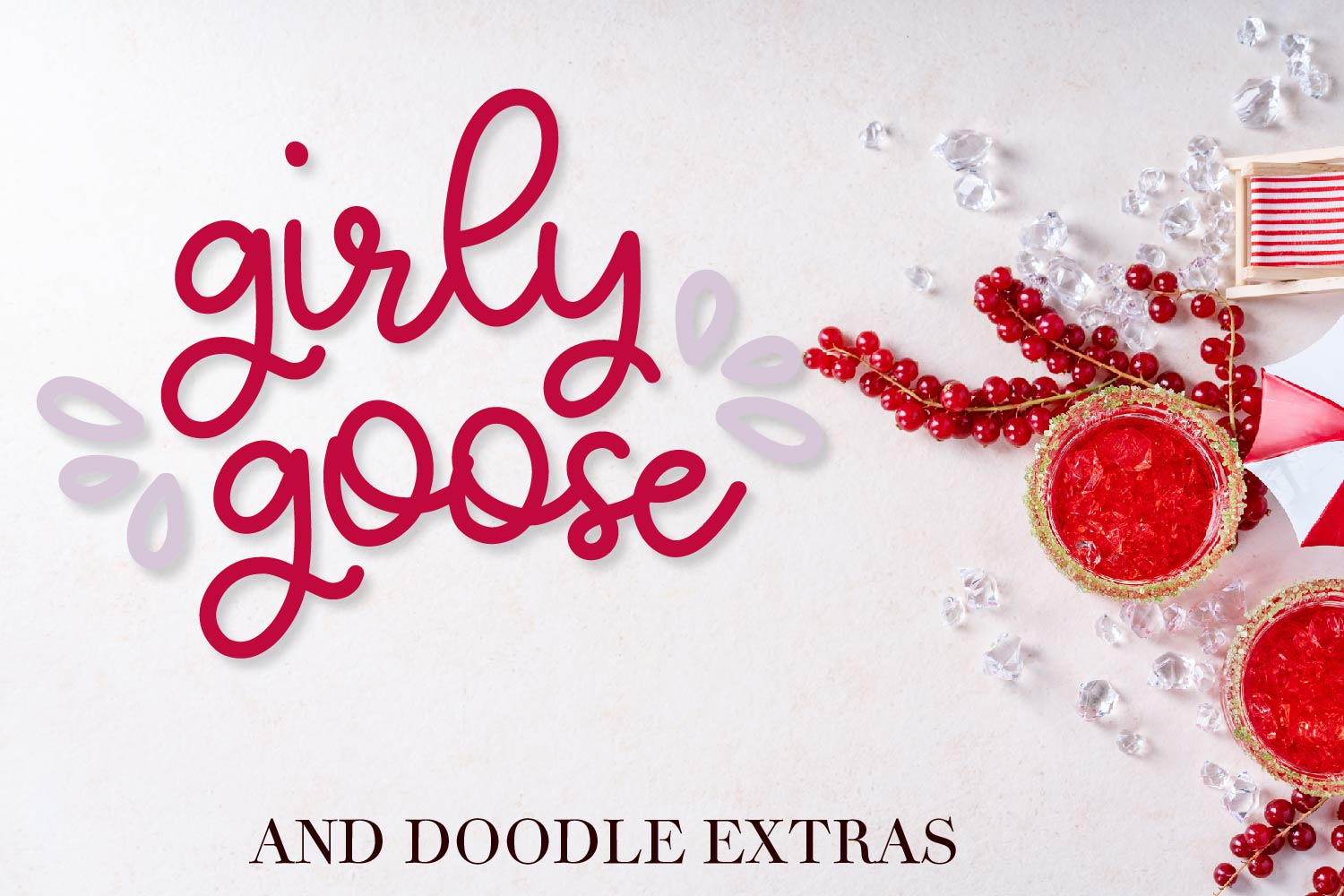 Girly Goose - A Fun Script Font with Doodle Extras example image 1