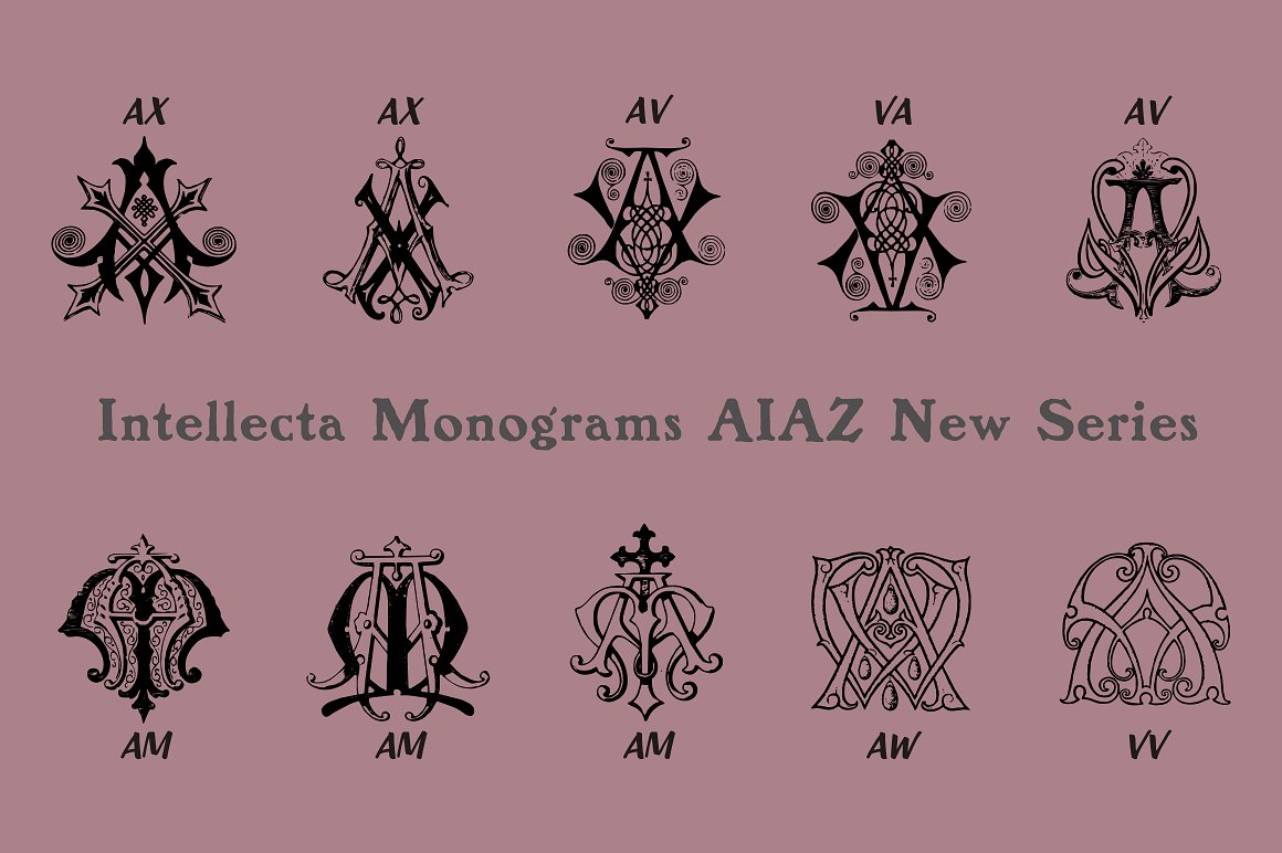 Intellecta Monograms Collection SUPER PACK example image 9