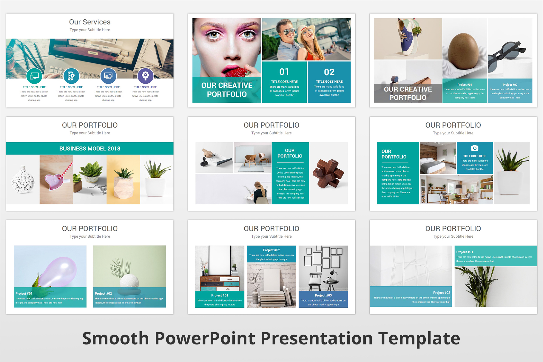Smooth multipurpose PowerPoint Presentation Template example image 8