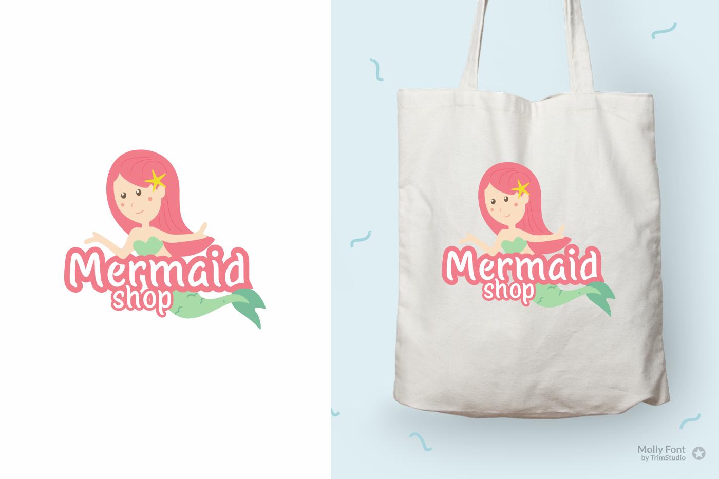 Molly - Mermaid Display font example image 2