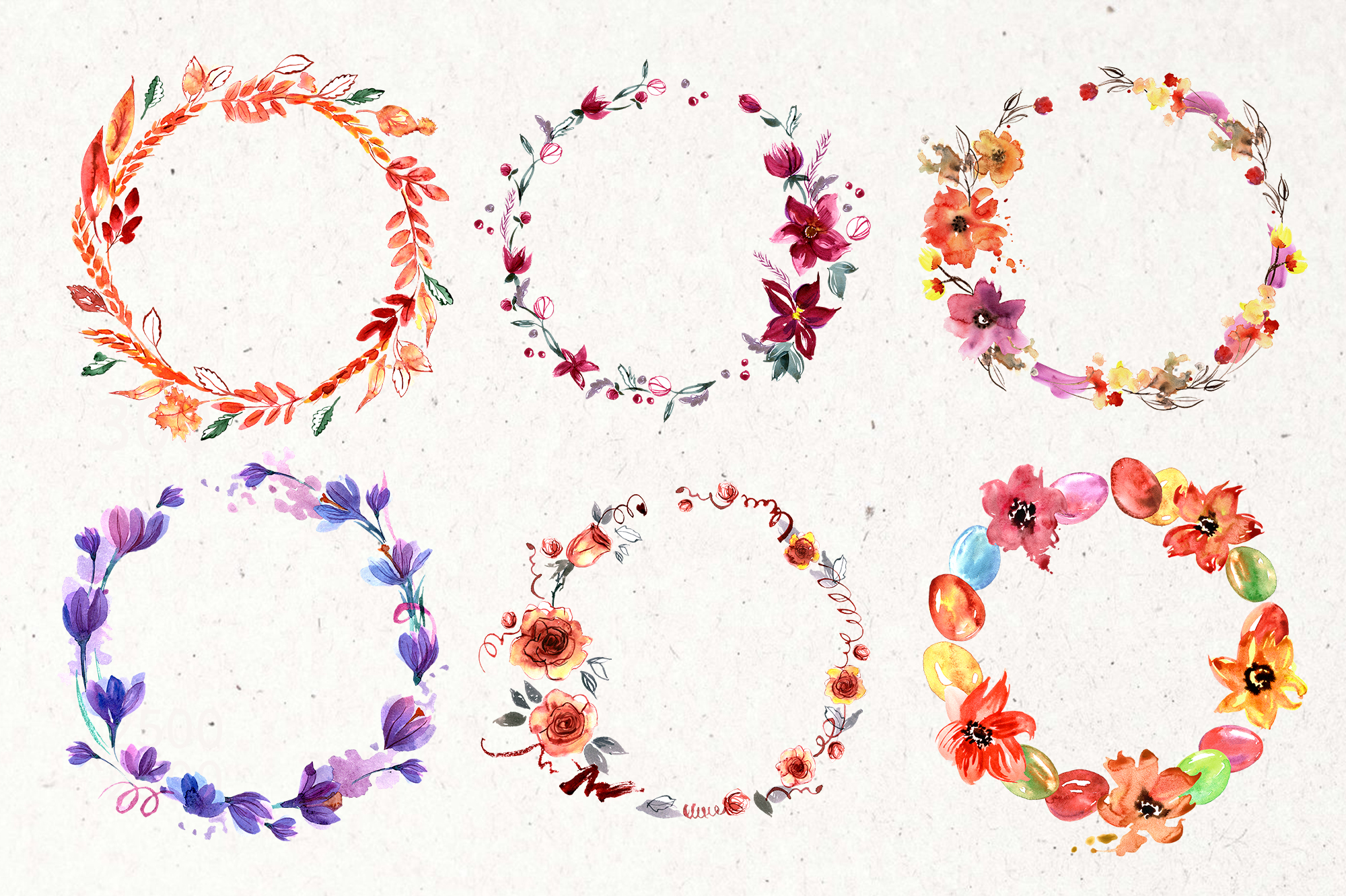 30 Watercolor Floral Wreaths example image 6
