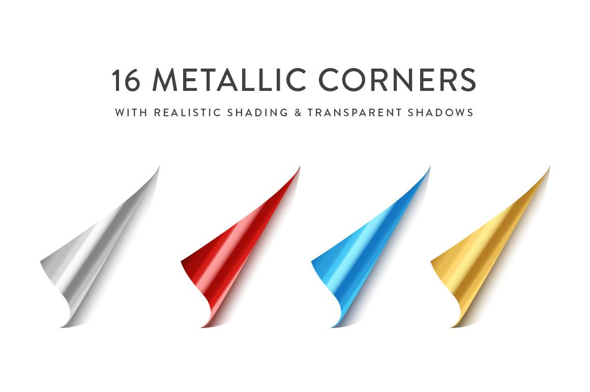 Curling Paper Corner Folds Set example image 6