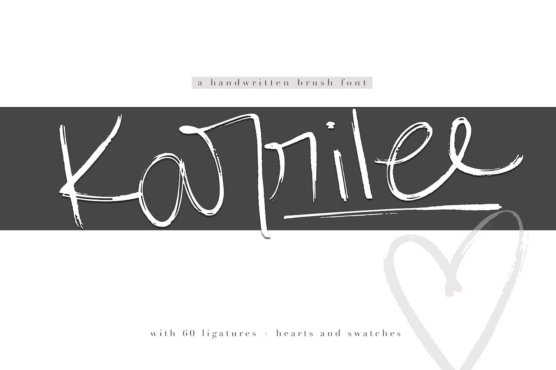 KA Designs Handwritten Font Bundle - 50 Fonts! example image 15