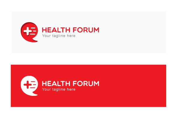Health Forum - Call Out Iconic Symbol Stock Logo Template example image 2