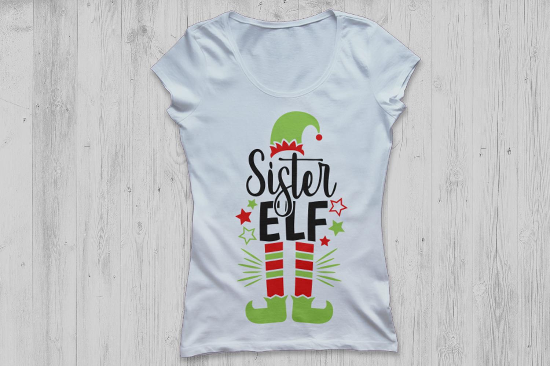 Sister Elf Svg, Christmas Svg, Elf Svg, Sister Svg, Elf Hat. example image 2