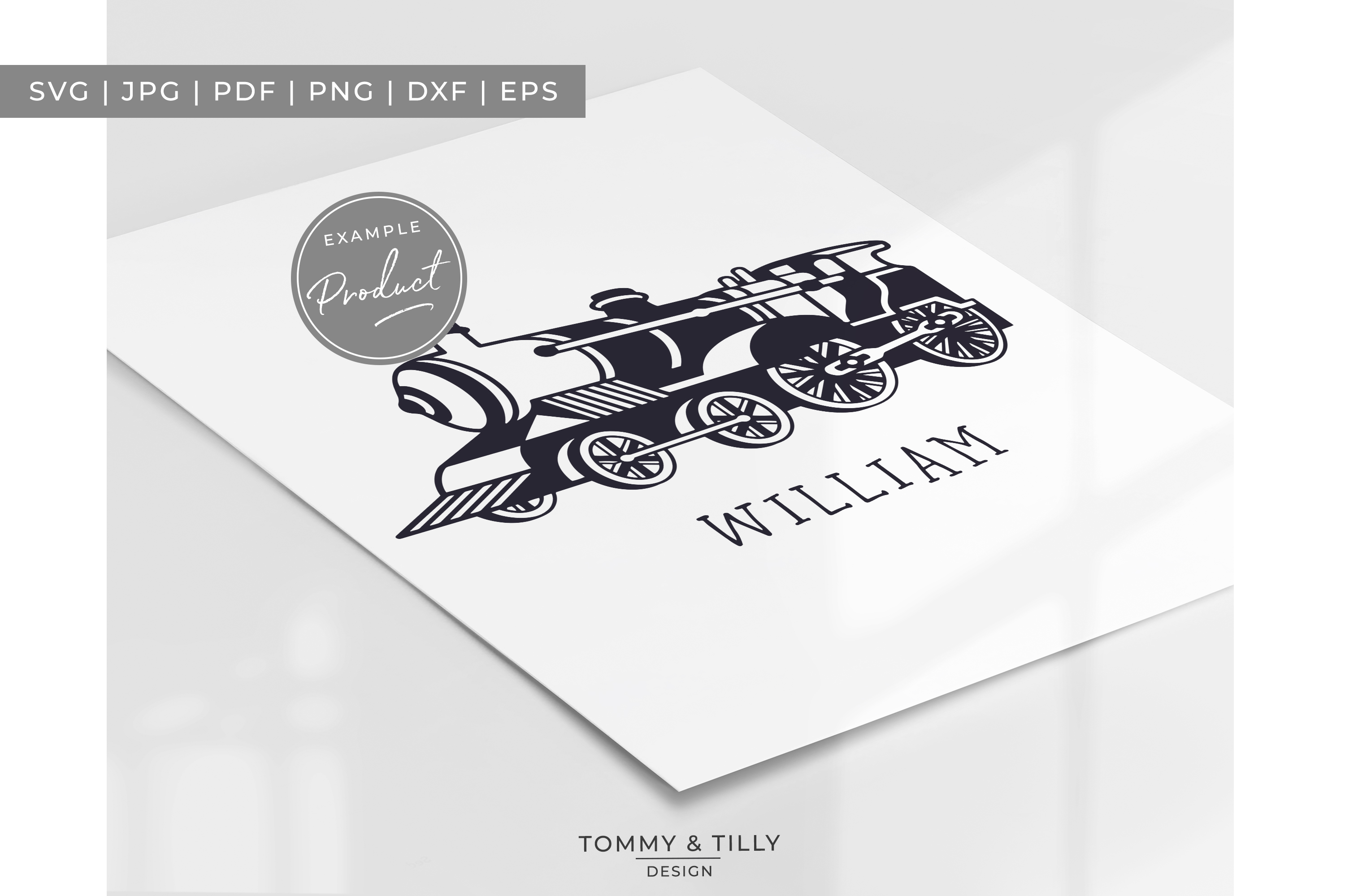 Steam Train- SVG EPS DXF PNG PDF JPG Cut File example image 7