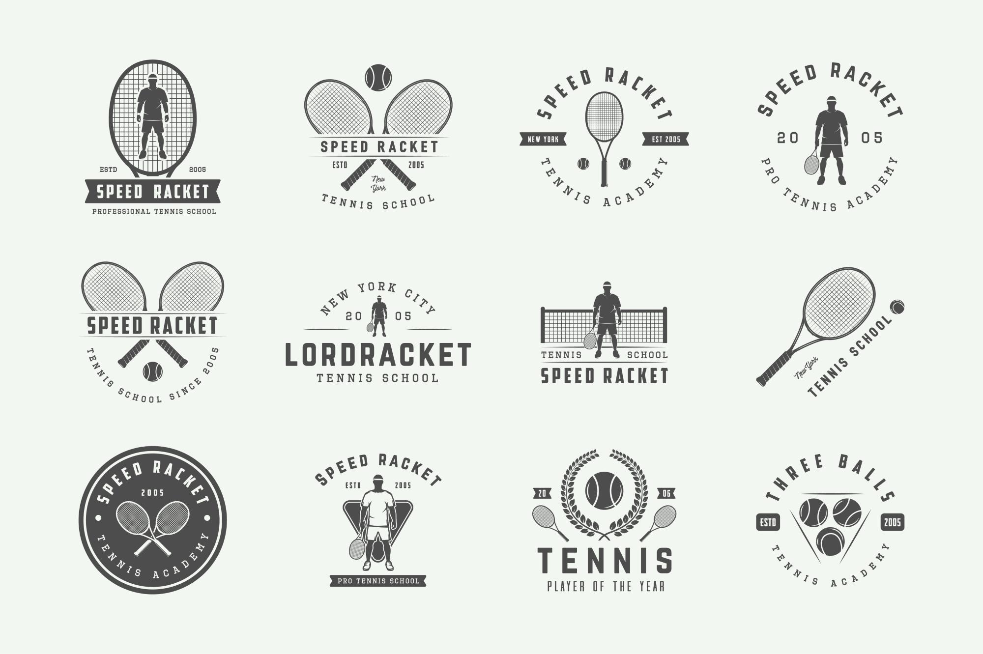 Vintage Tennis Emblems Bundle example image 4