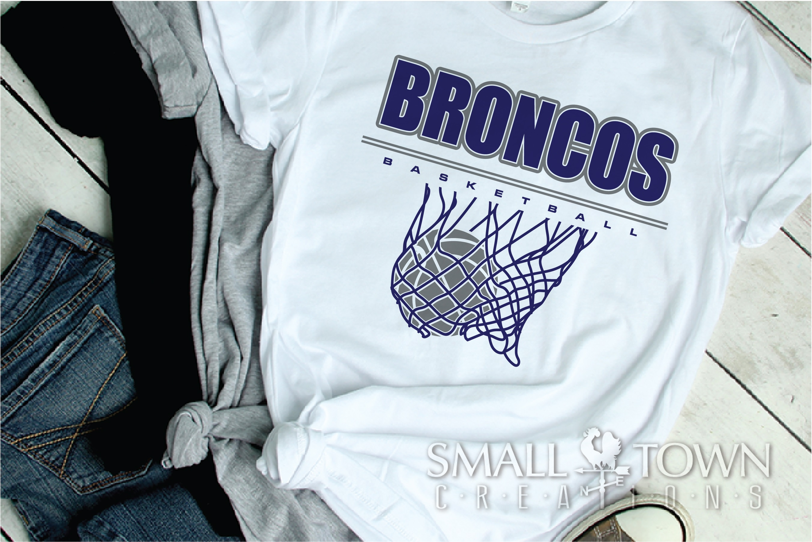 Bronco, Broncos Basketball, Team, Sport, PRINT, CUT & DESIGN example image 2