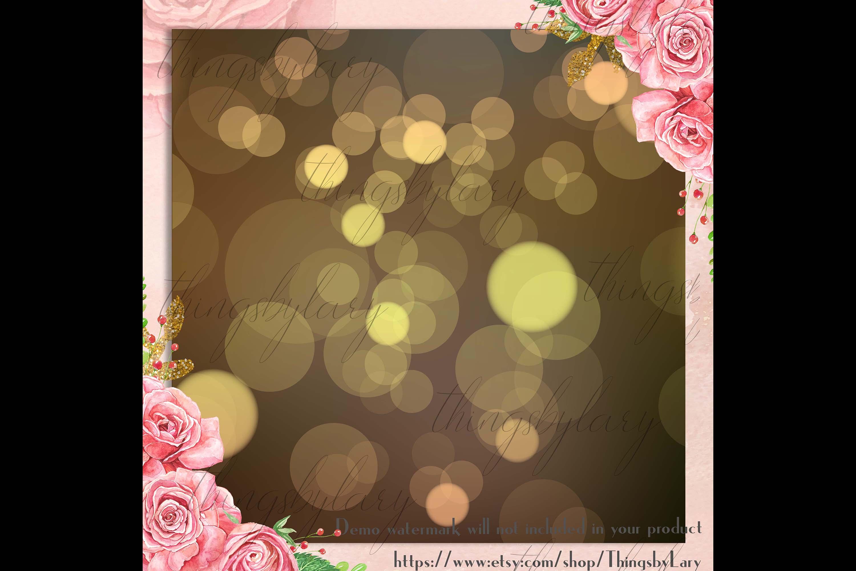 18 Luxury Bokeh Background Digital Images Gold Bokeh Heart example image 2