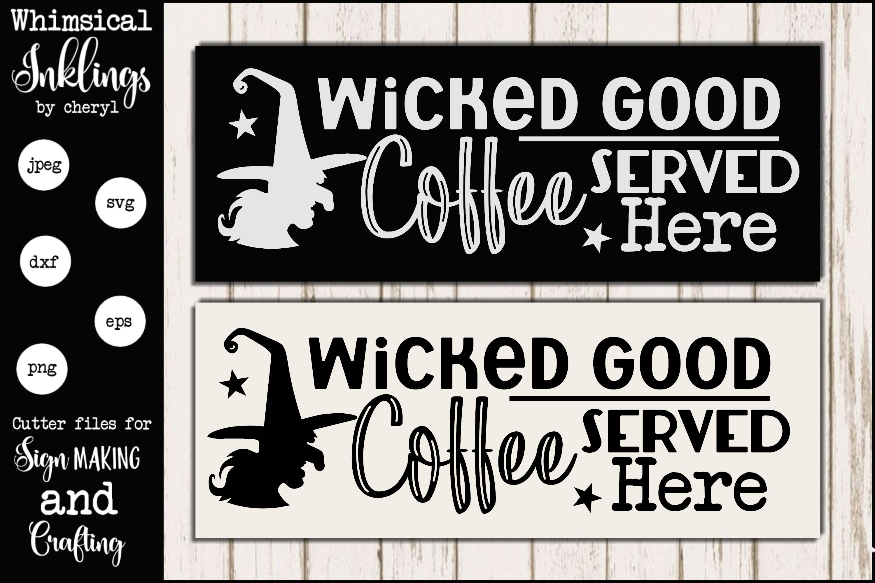 Wicked Good Coffee-Halloween SVG example image 1