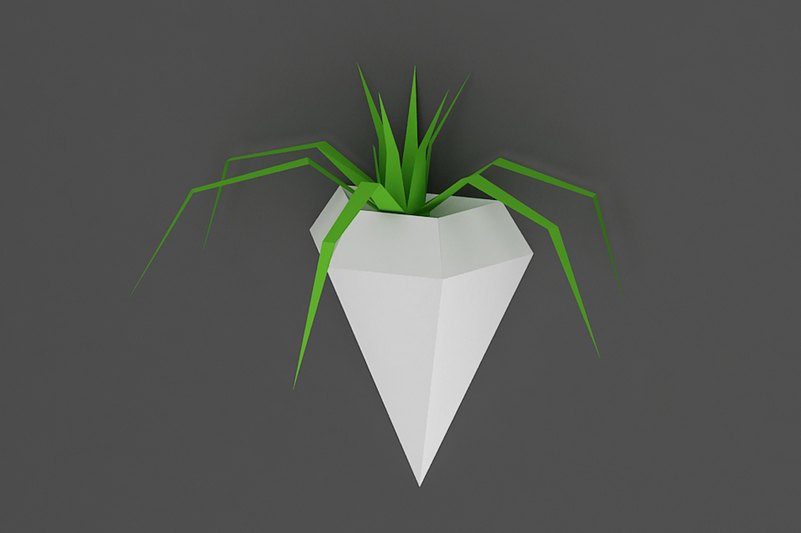 DIY Wall mount Planters - 3d papercraft example image 4