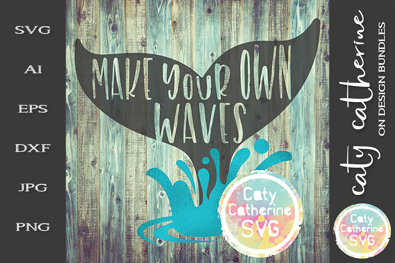 Make Your Own Waves SVG Cut File example image 1