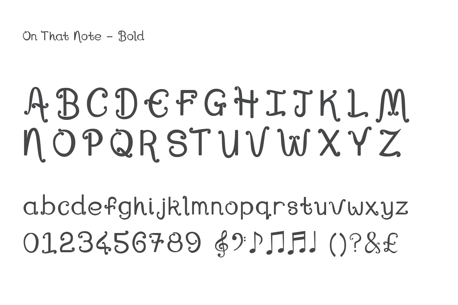 Font, On That Note example image 9