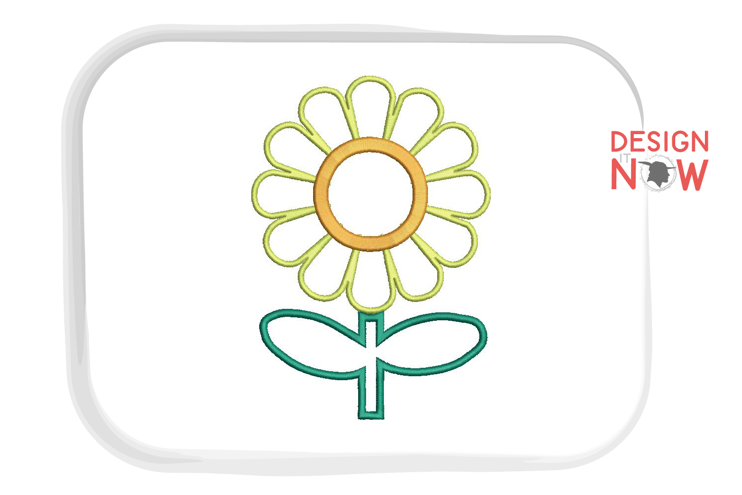 Flower Applique Embroidery Design, Flowers Embroidery example image 3