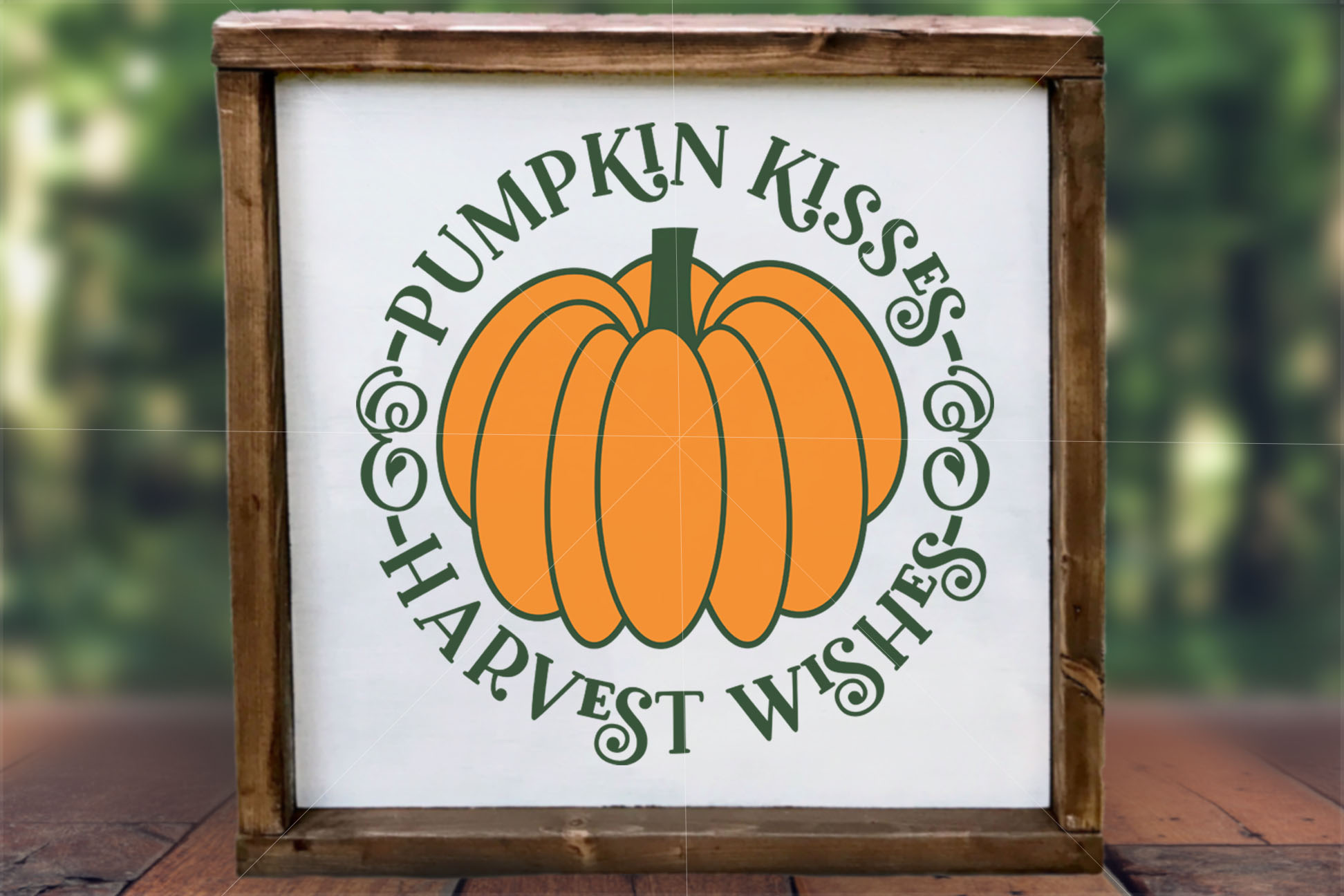 Pumpkin Kisses and Harvest Wishes SVG example image 2