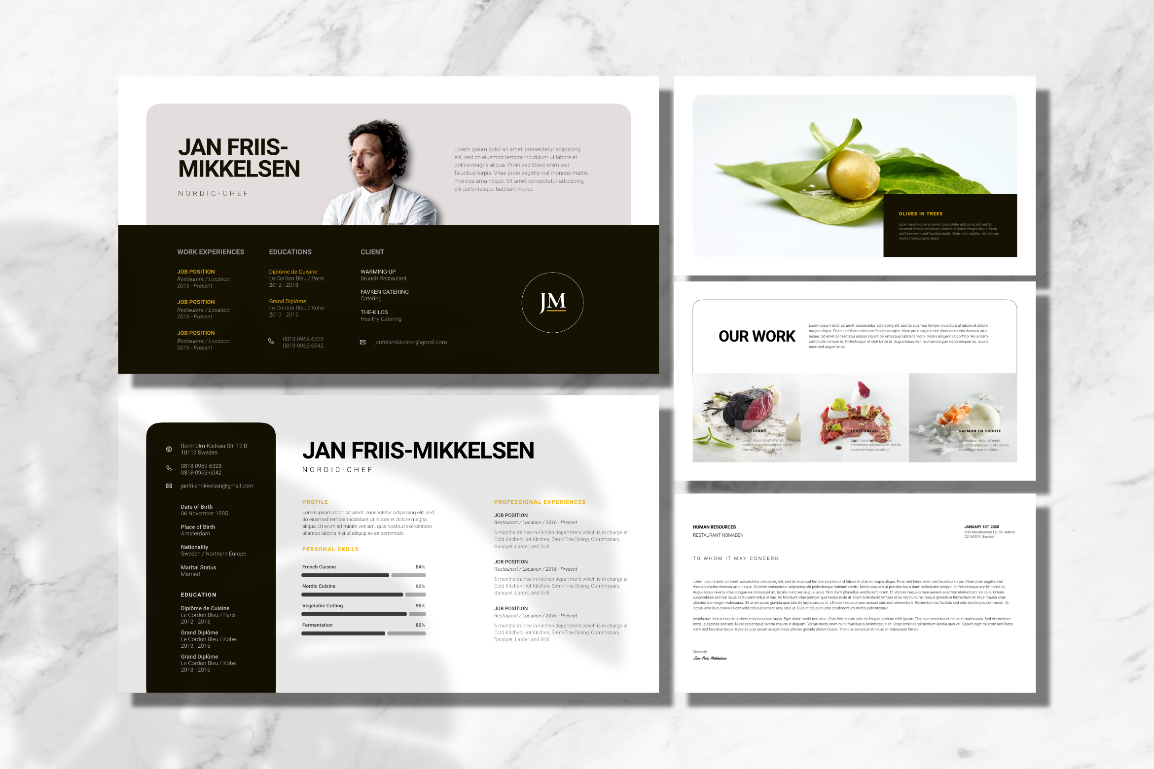 Clean Chef Resume Google Slides example image 2