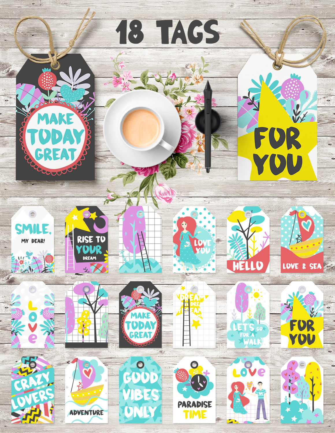 Make Today Great - Clipart Set example image 3