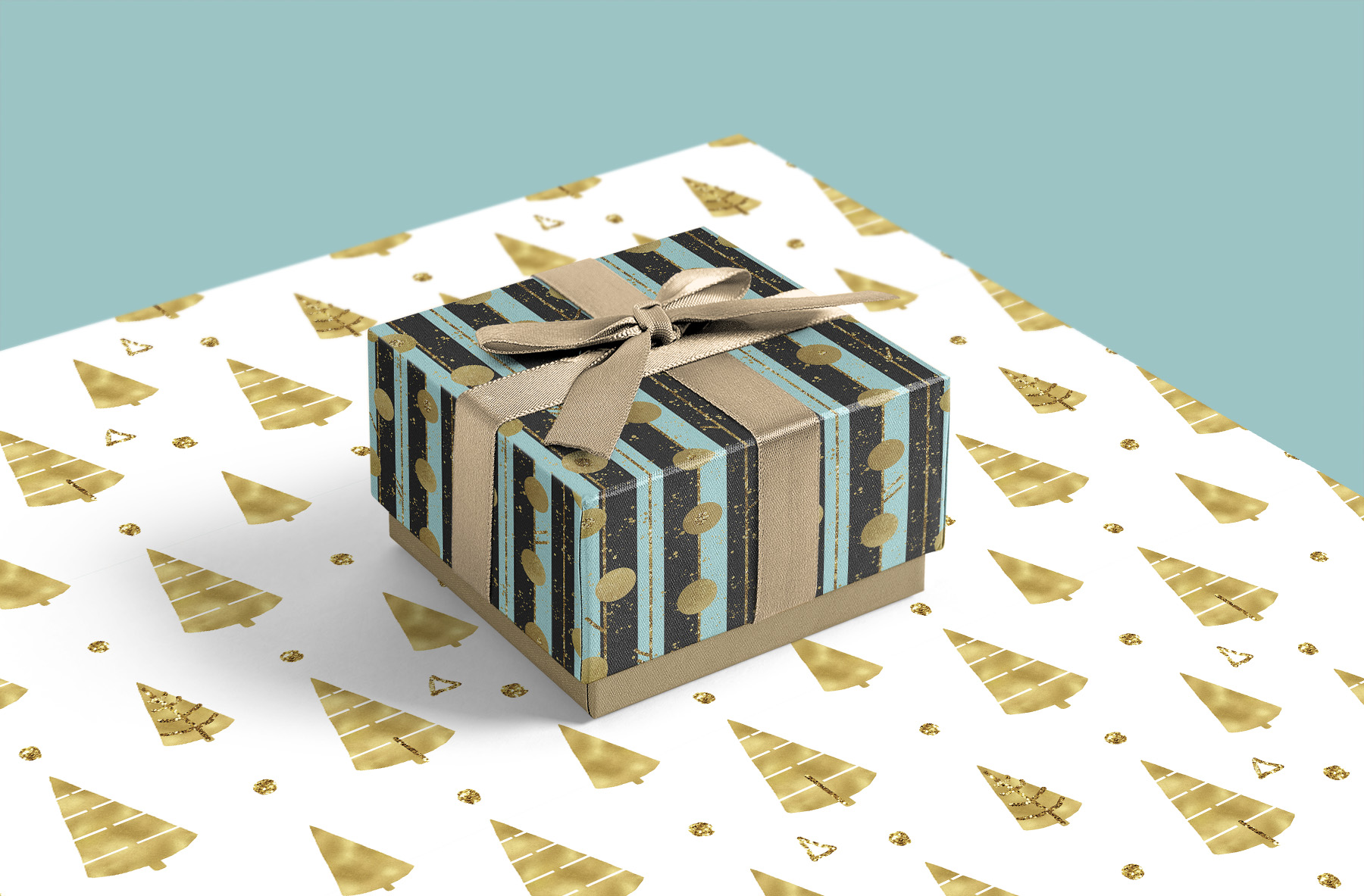Christmas digital paper pack, seamless pattern snowflake example image 9